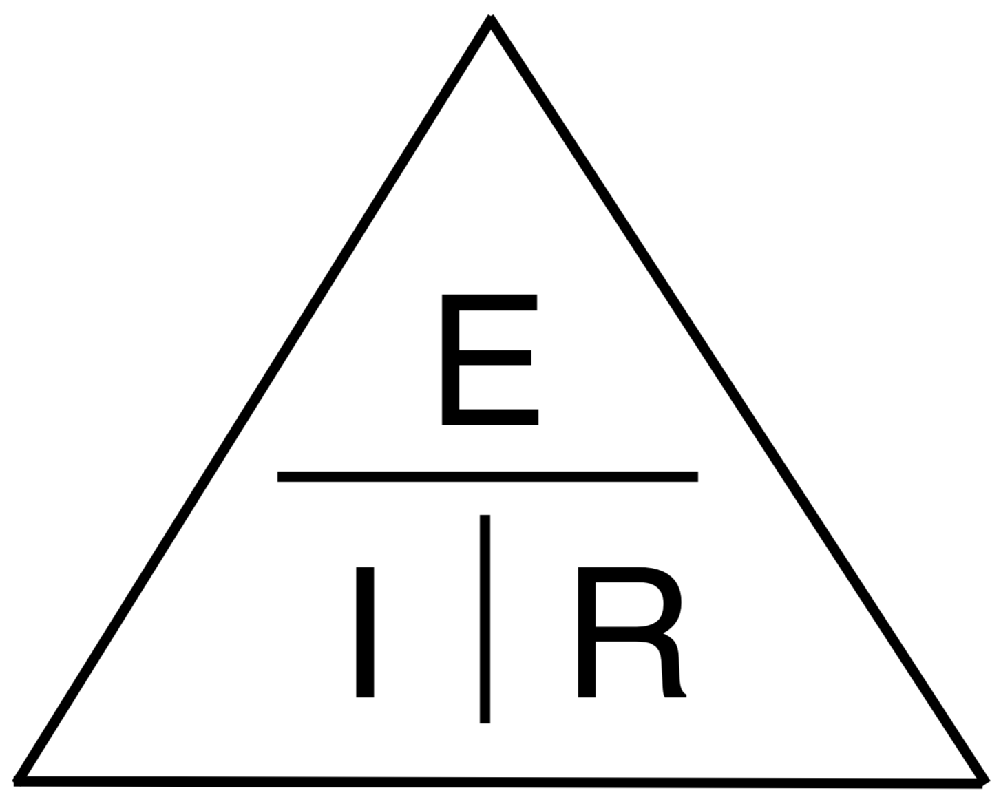 Ohm's Law triangle visualizing the formula to find voltage, current, and resistance