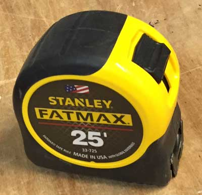 The Stanley FatMax is our top tape measure recommendation