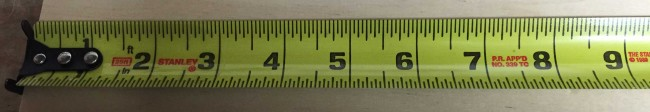 "The Stanley FatMax tape measure has a 1 1/4"" wide blade with an 11' standout"