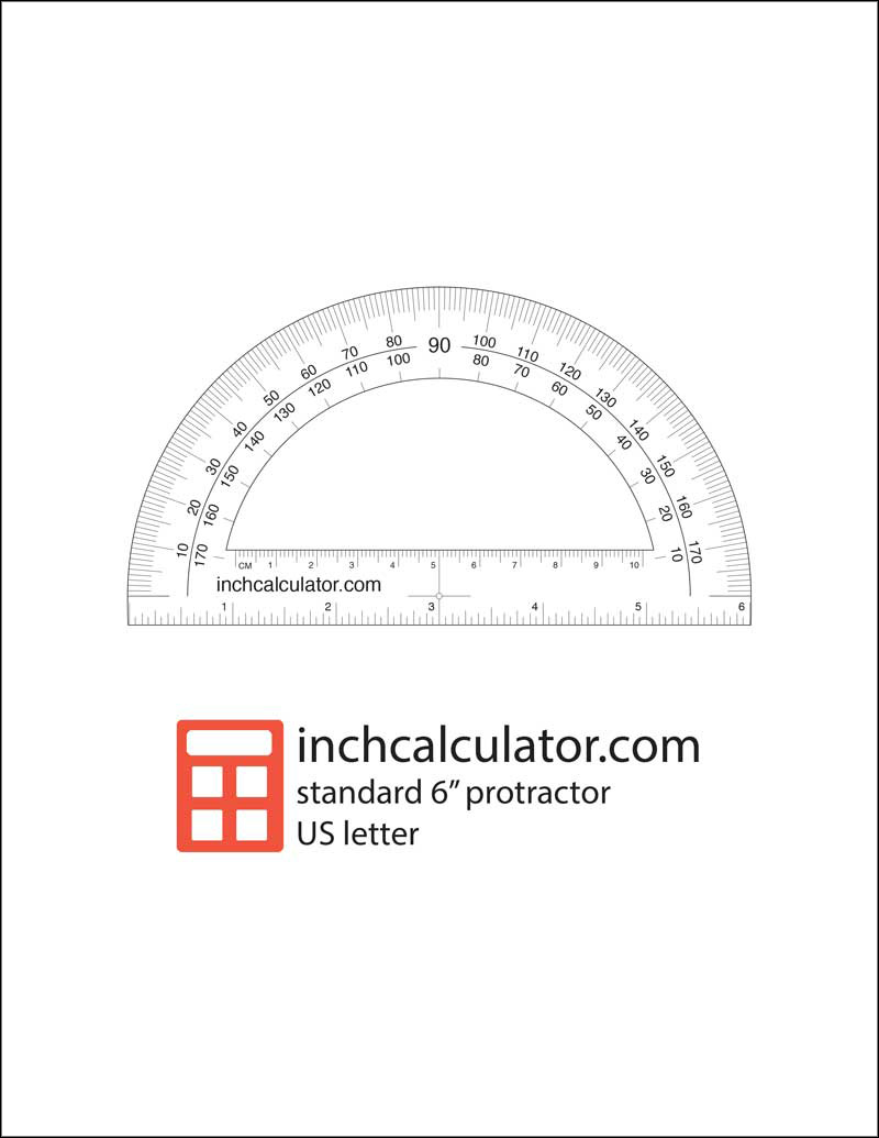 image regarding Protractor Printable Pdf named Printable Protractor Obtain - Inch Calculator