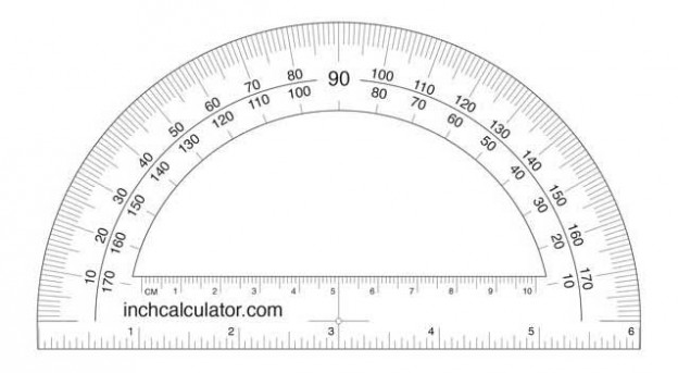 A printable protractor can be used in place of a plastic one in a pinch or for one-time uses