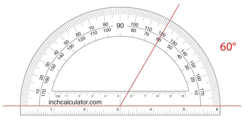 Find an acute angle measurement using a protractor