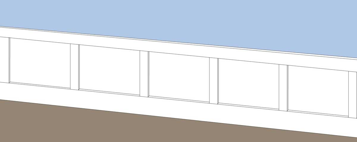 Wainscoting layout.
