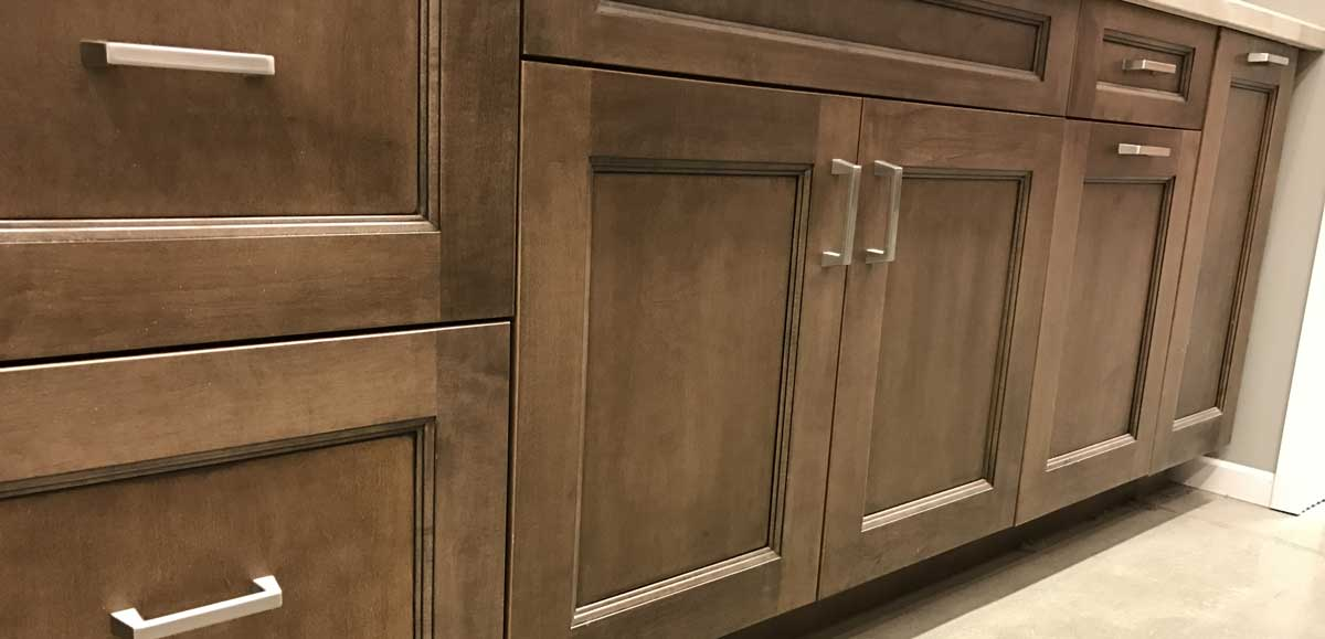 5-piece doors on beautiful kitchen cabinets