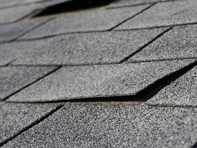 shingle lifting off a roof