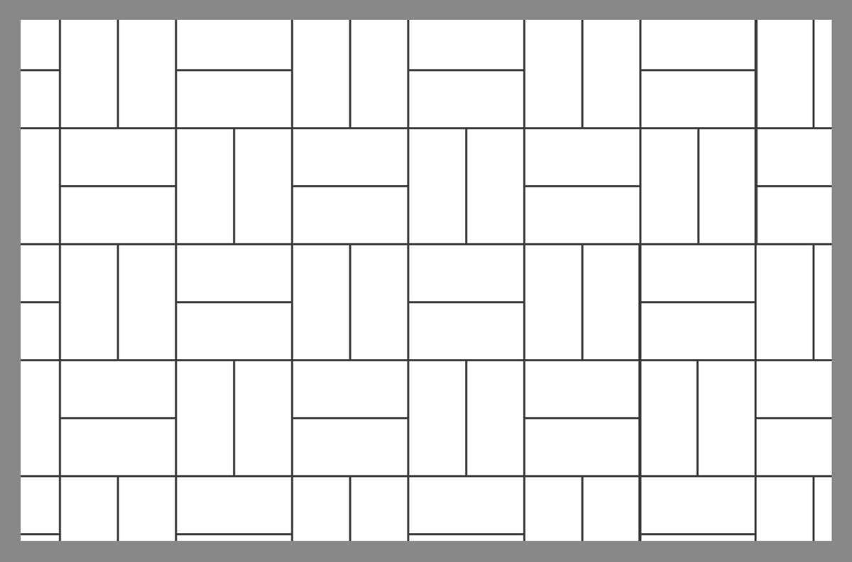 Basket Weave Pattern Paving : Tile and paver layout patterns inch calculator