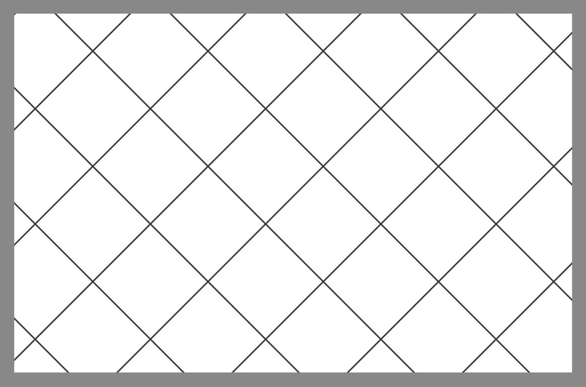 Tile layout using the diamond pattern