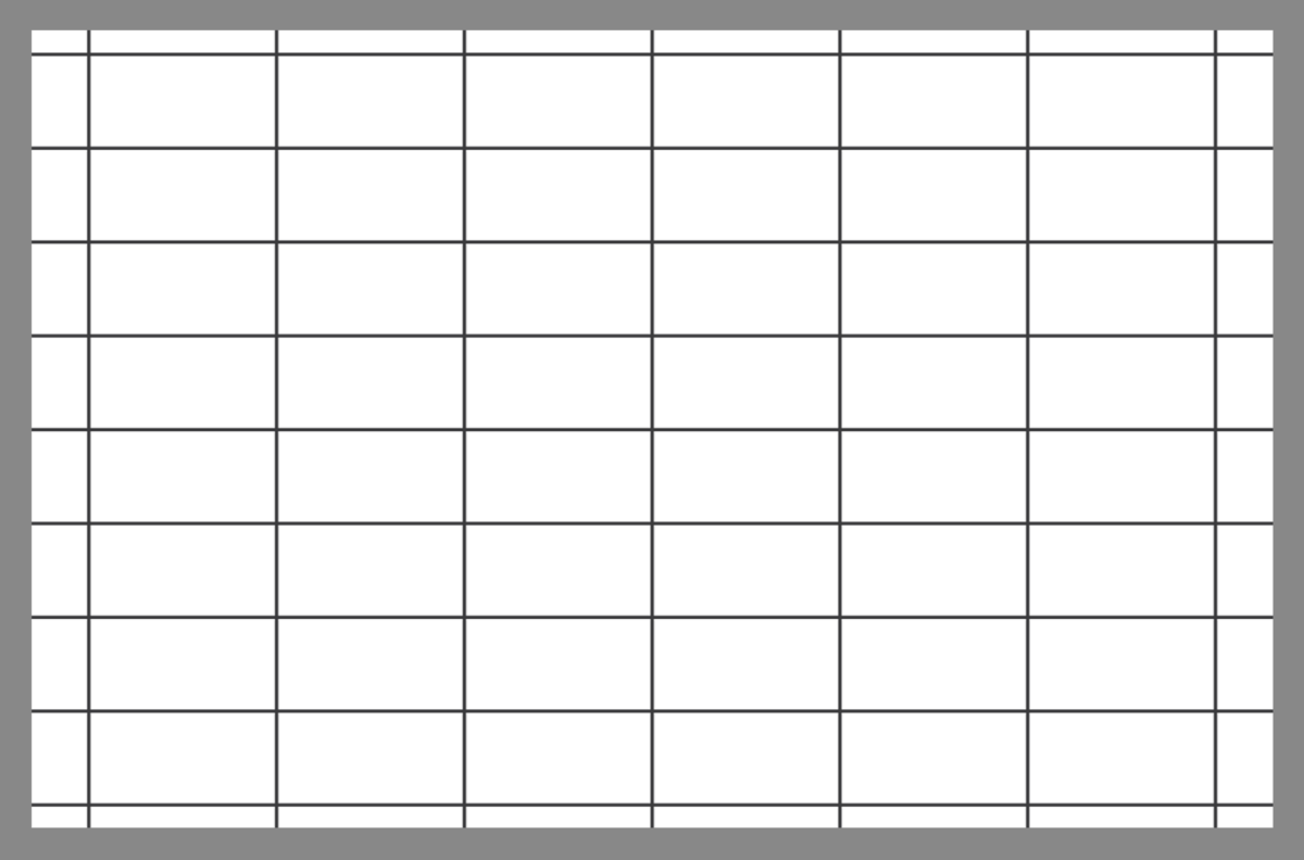 Tile layout using the rectangular linear grid pattern