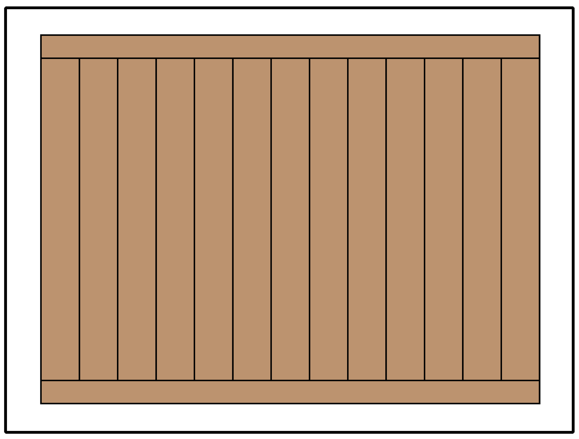 Framed style privacy fence