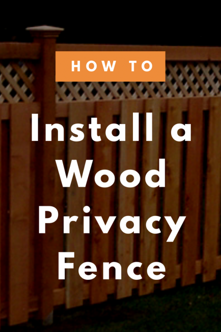 Share how to install a wood privacy fence