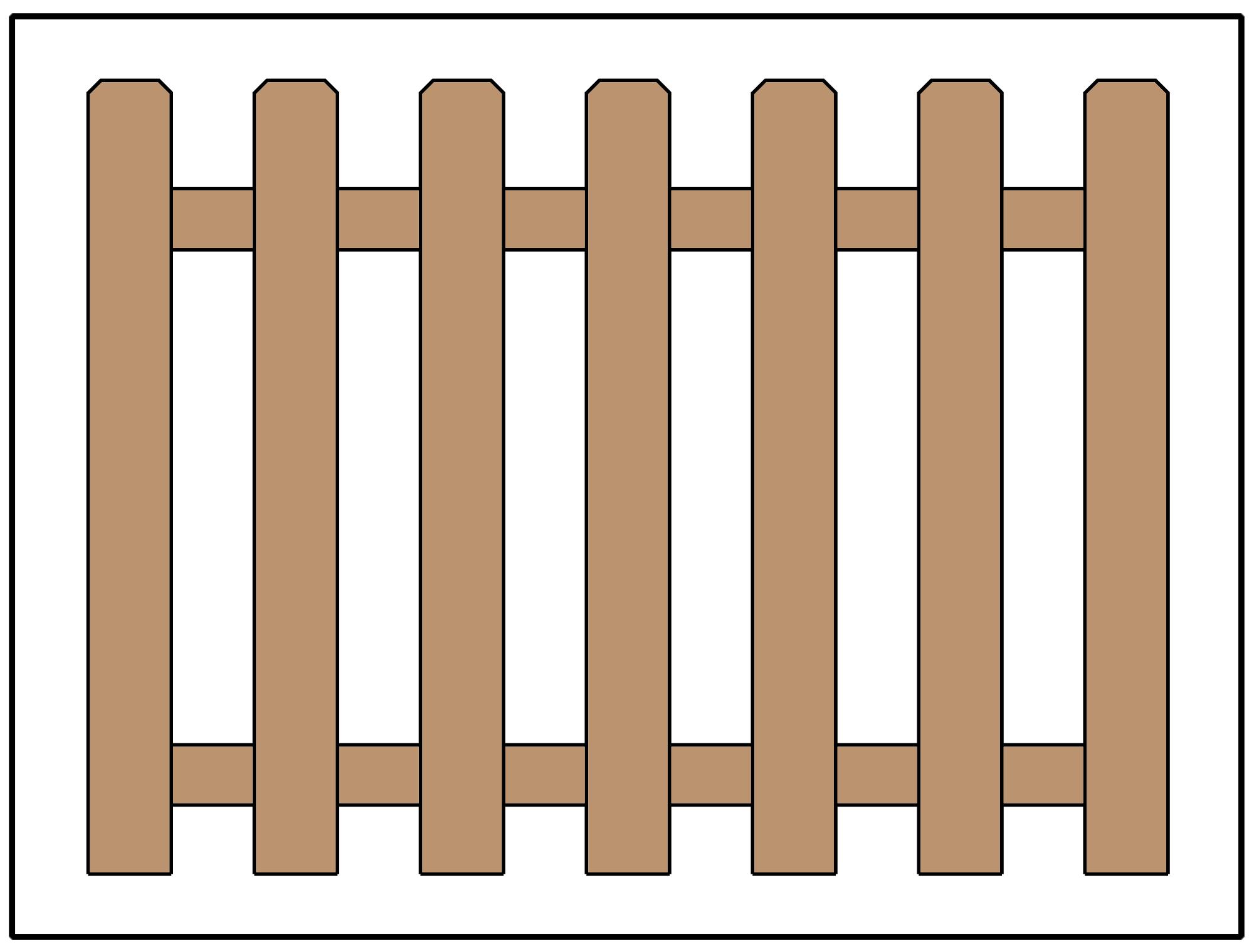 picket fence design. Picket Fence Design Using Dog Ear Pickets Picket