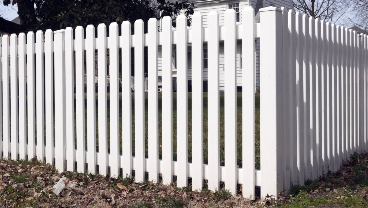 Vinyl picket fences are beautiful and easy to maintain