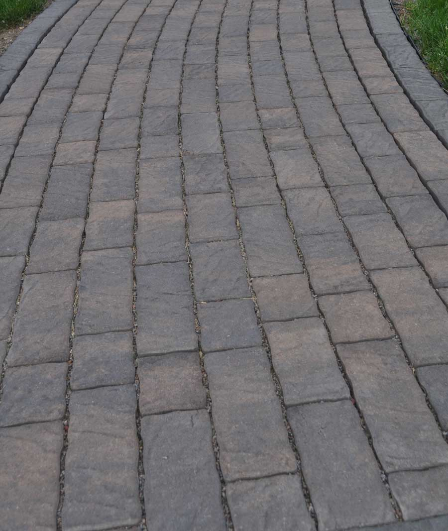 Concrete pavers with the look of natural stone