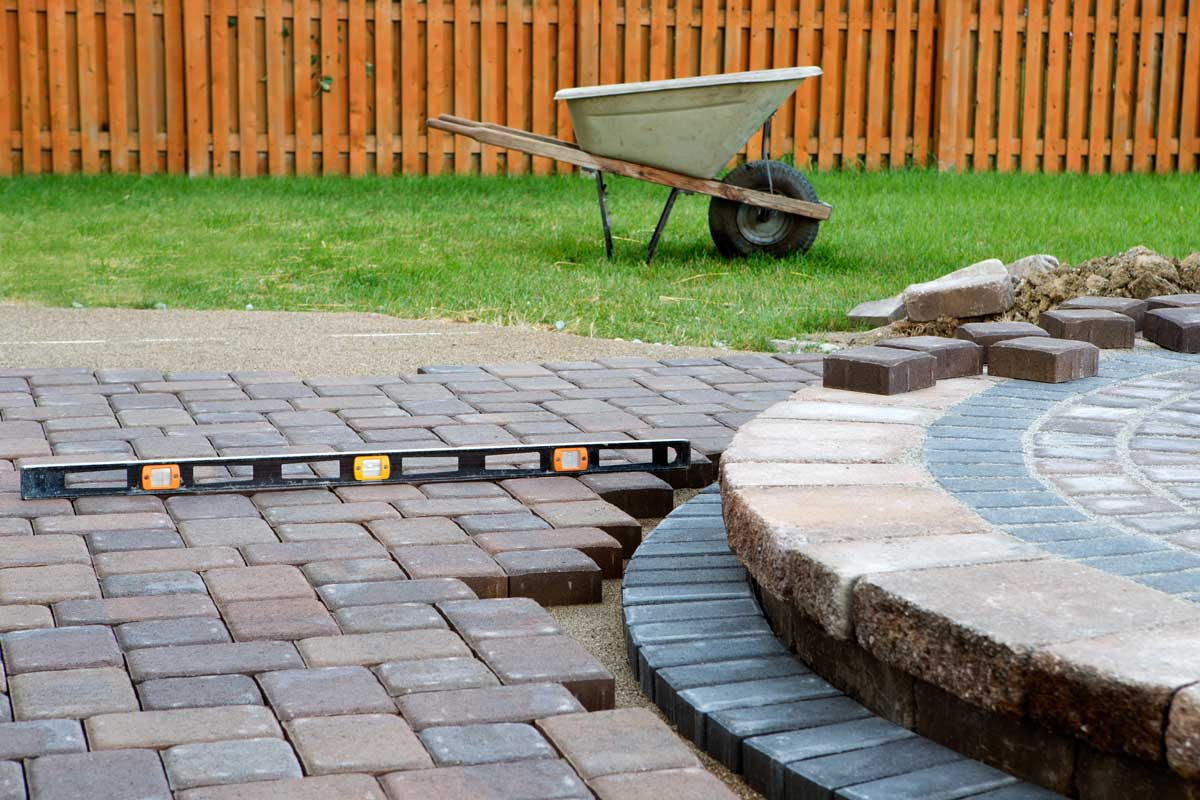care paver and lawn installation lanscaping services patio design