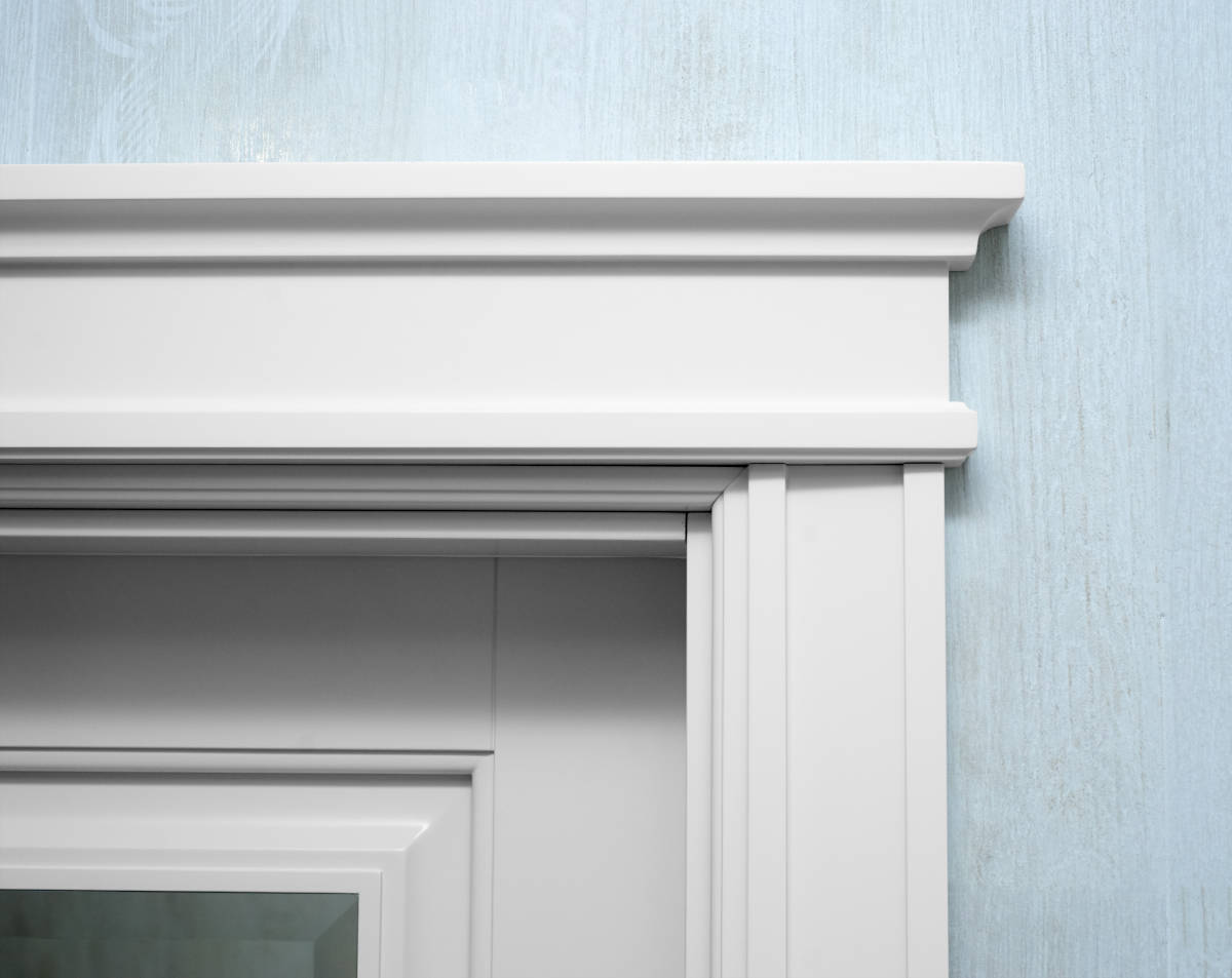 Add extra length to door and window casings to support the length of the outer edge of the trim, not the outer edge of the door/window.