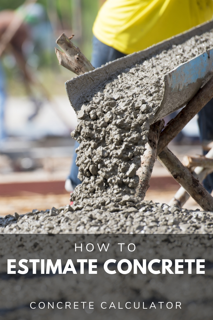 Share concrete calculator and price estimator - find cubic yards and bags of concrete needed for slabs and footings - inch calculator