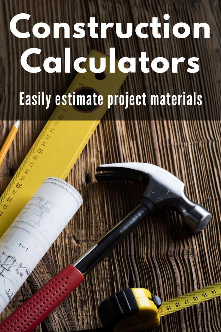 Home improvement and construction calculators to help estimate material and costs for common renovation projects.