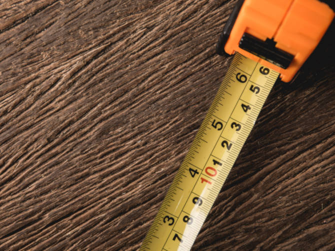 Inches, fractions, and centimeters are used on a tape measure but are difficult to add and subtract