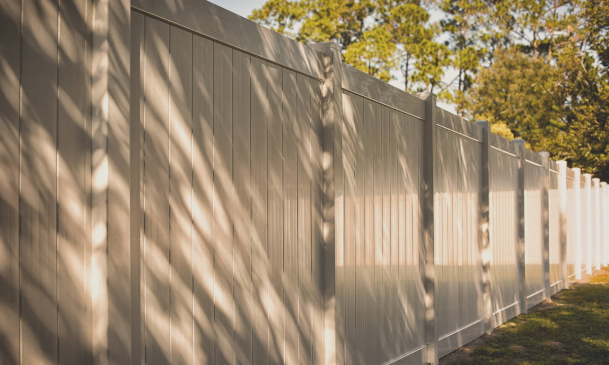 Vinyl is a great material for a privacy fence, but a more expensive option than wood.