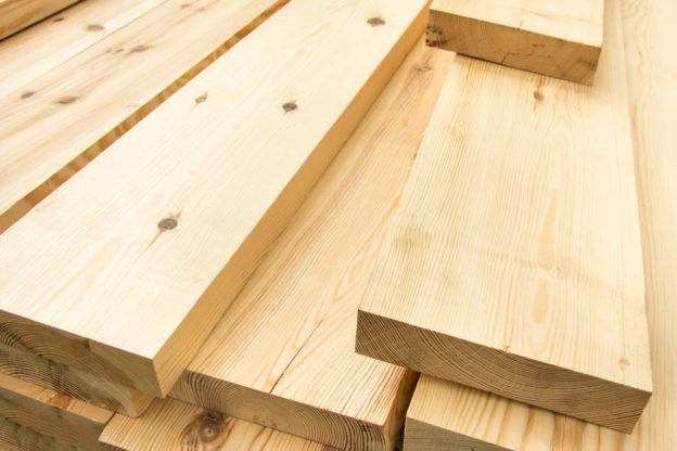 Stack of dimensional framing lumber