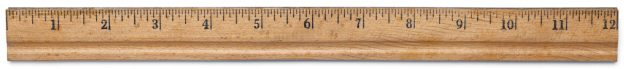 Wooden rulers are used to take measurements and draw straight lines