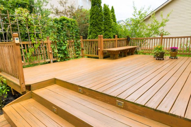 Newly installed deck