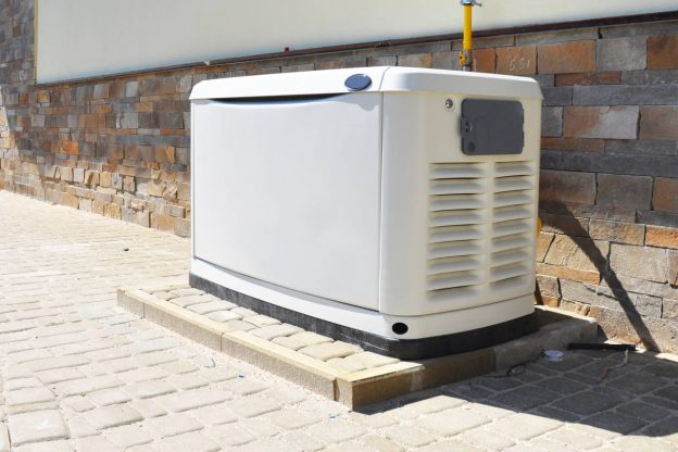 backup generator installed outside of a home