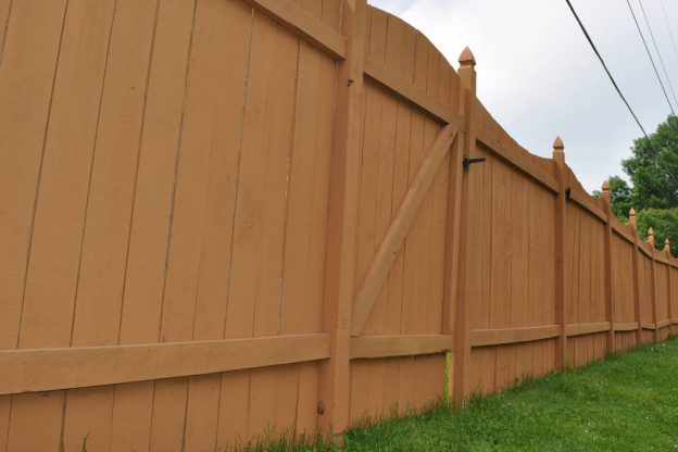 Wooden fence in need of repair