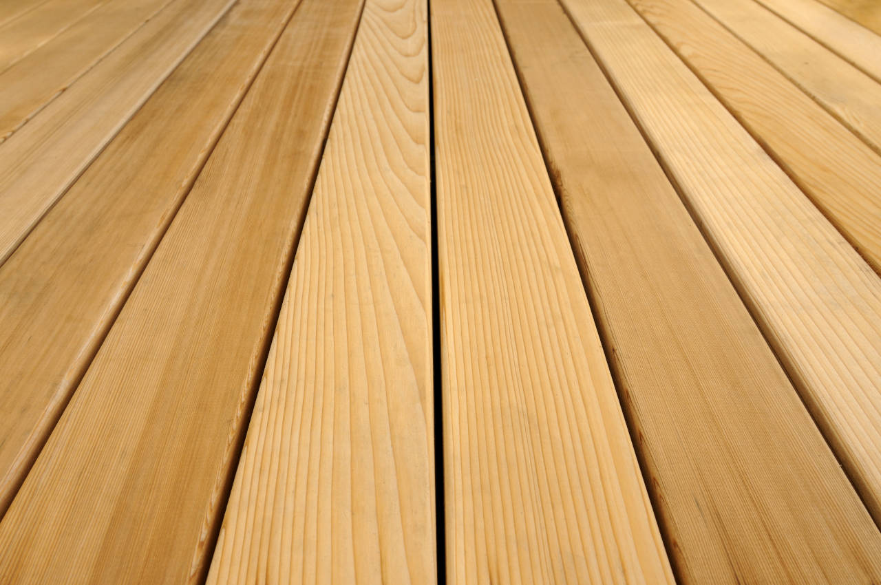 Cedar decking is cost effective and looks a bit nicer than pressure treated decking