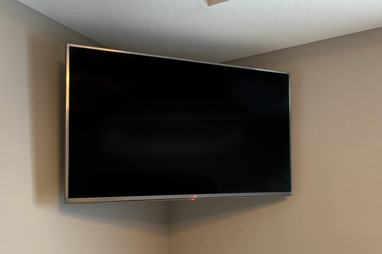Articulating brackets allow you to mount your TV in a corner and allow the TV to swivel.