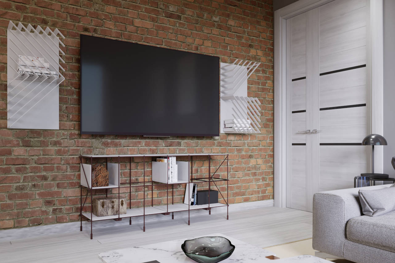 Fixed TV brackets allow the TV to sit flat on the wall and are often very thin