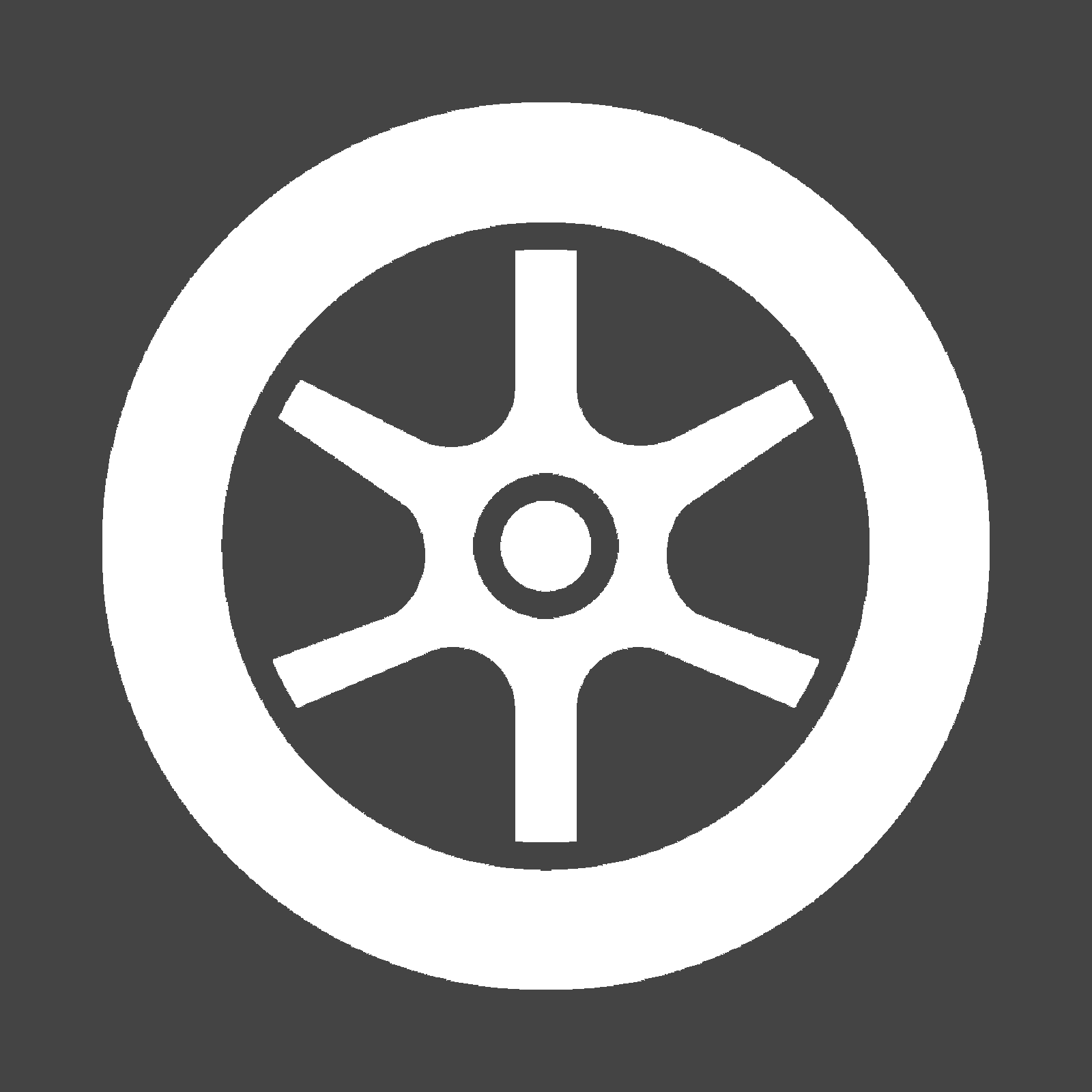 Icon of a wheel with tire and rim