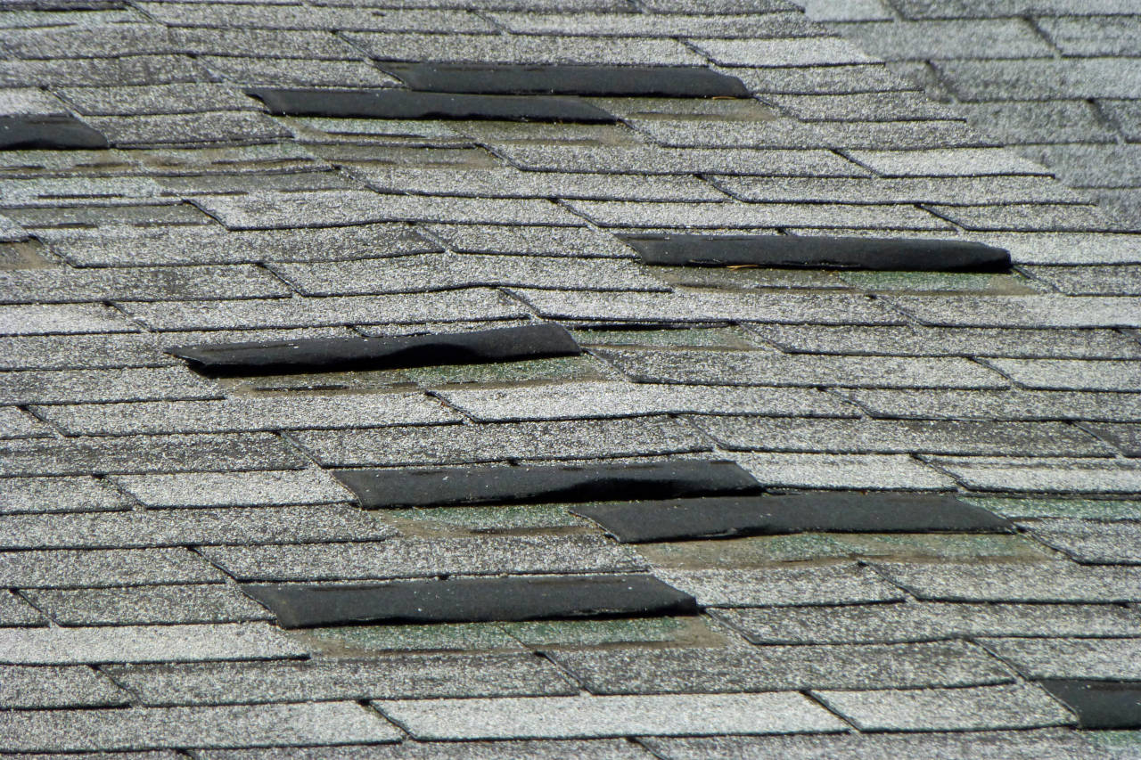 shingles missing from a roof