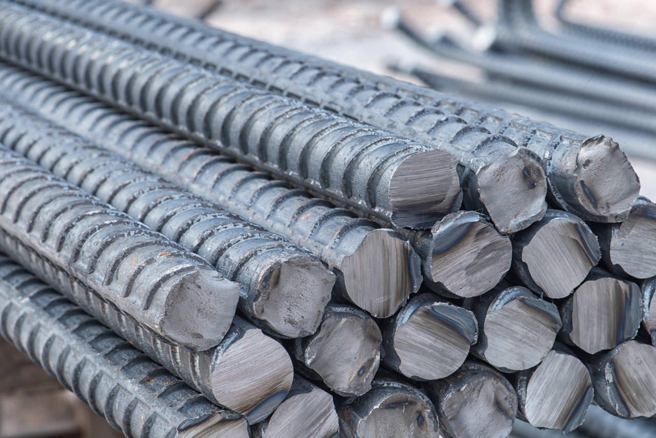 Find the weight of rebar material by multiplying the total length by the pounds per foot for the size of rebar needed